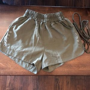 High Waisted cinch shorts